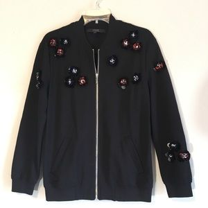 Guess Embellished Jacket Floral Varsity Bomber